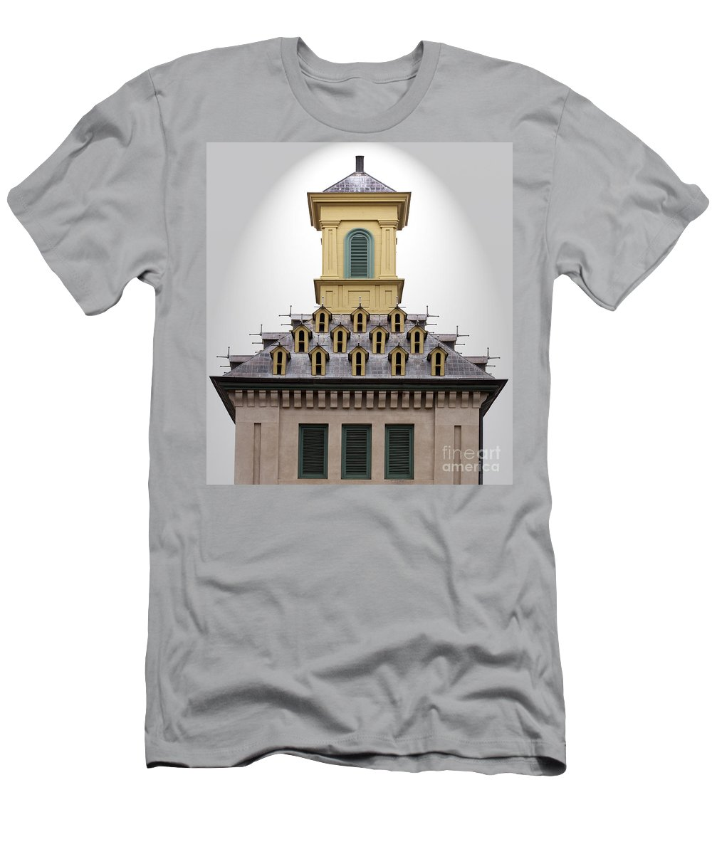 Pigeon Men's T-Shirt (Athletic Fit) featuring the photograph Pigeon Condos by Barbara McMahon