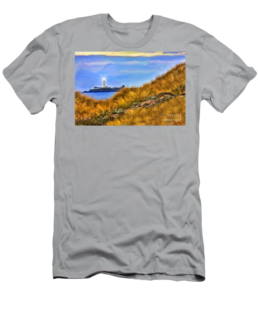 Pigeon Point Light Station State Historic Park Men's T-Shirt (Athletic Fit) featuring the photograph Pigeon Point Light Station by Blake Richards
