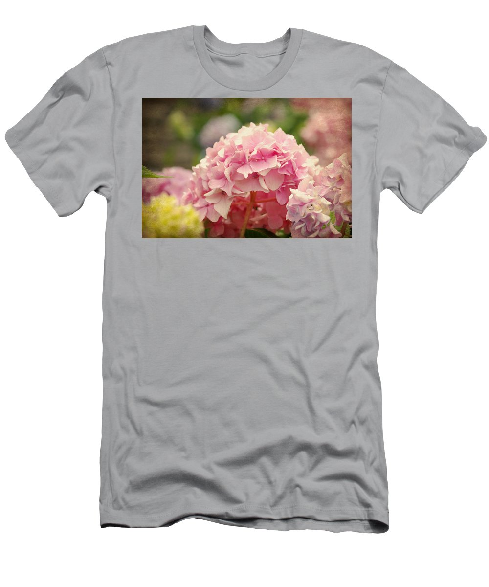 Hydrangea Men's T-Shirt (Athletic Fit) featuring the photograph Pink by Beverly Stapleton