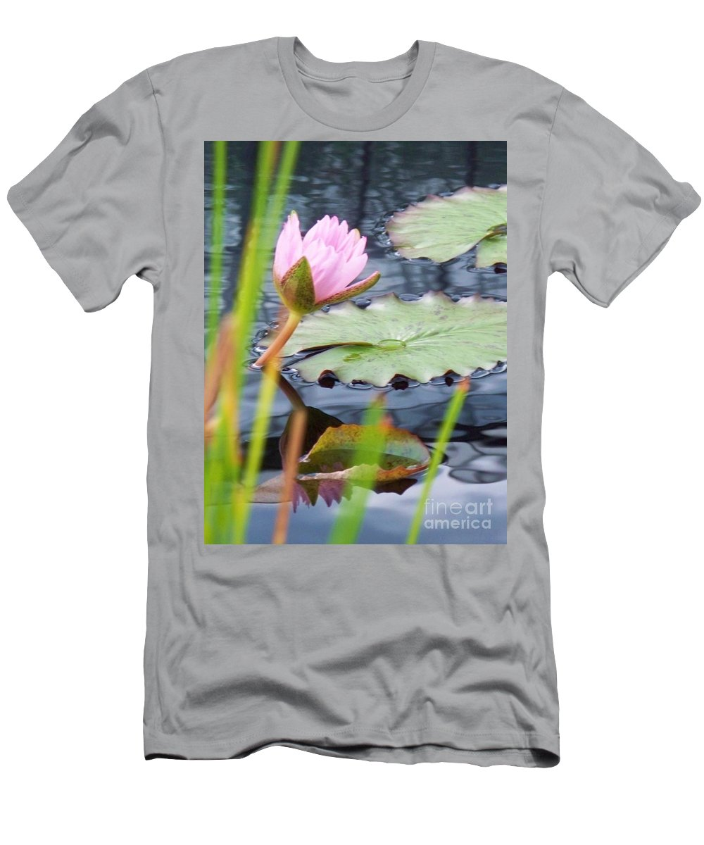 Photograph Men's T-Shirt (Athletic Fit) featuring the photograph Pink Lily And Pads by Eric Schiabor