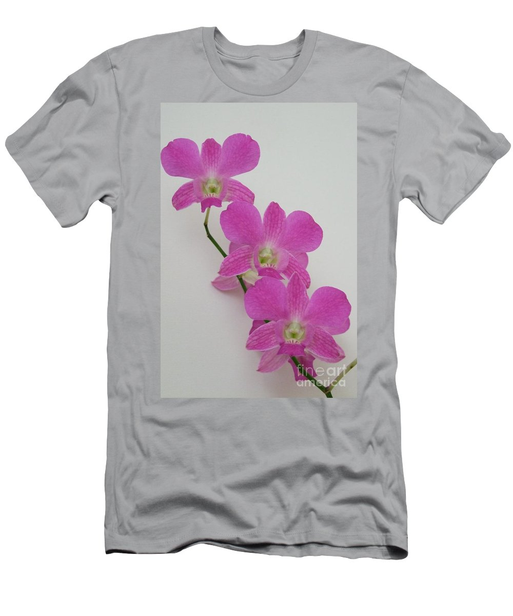 Pink Men's T-Shirt (Athletic Fit) featuring the photograph Pink Orchids 1 by Mary Deal
