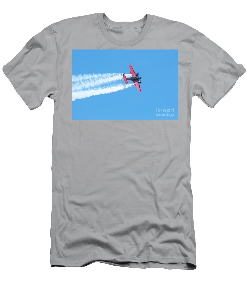 War Men's T-Shirt (Athletic Fit) featuring the photograph Plane In Air by Amel Dizdarevic