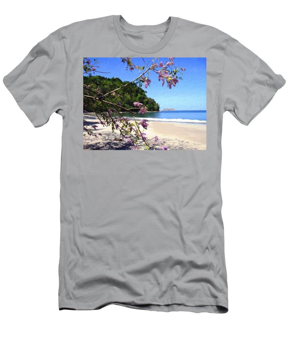 Beach Men's T-Shirt (Athletic Fit) featuring the photograph Playa Espadillia Sur Manuel Antonio National Park Costa Rica by Kurt Van Wagner