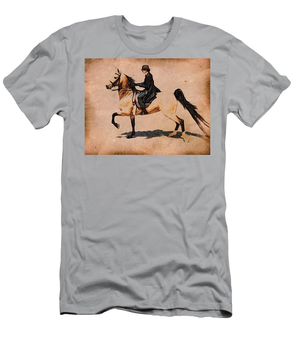 Horse Men's T-Shirt (Athletic Fit) featuring the photograph Pleasure Buckskin by Alice Gipson