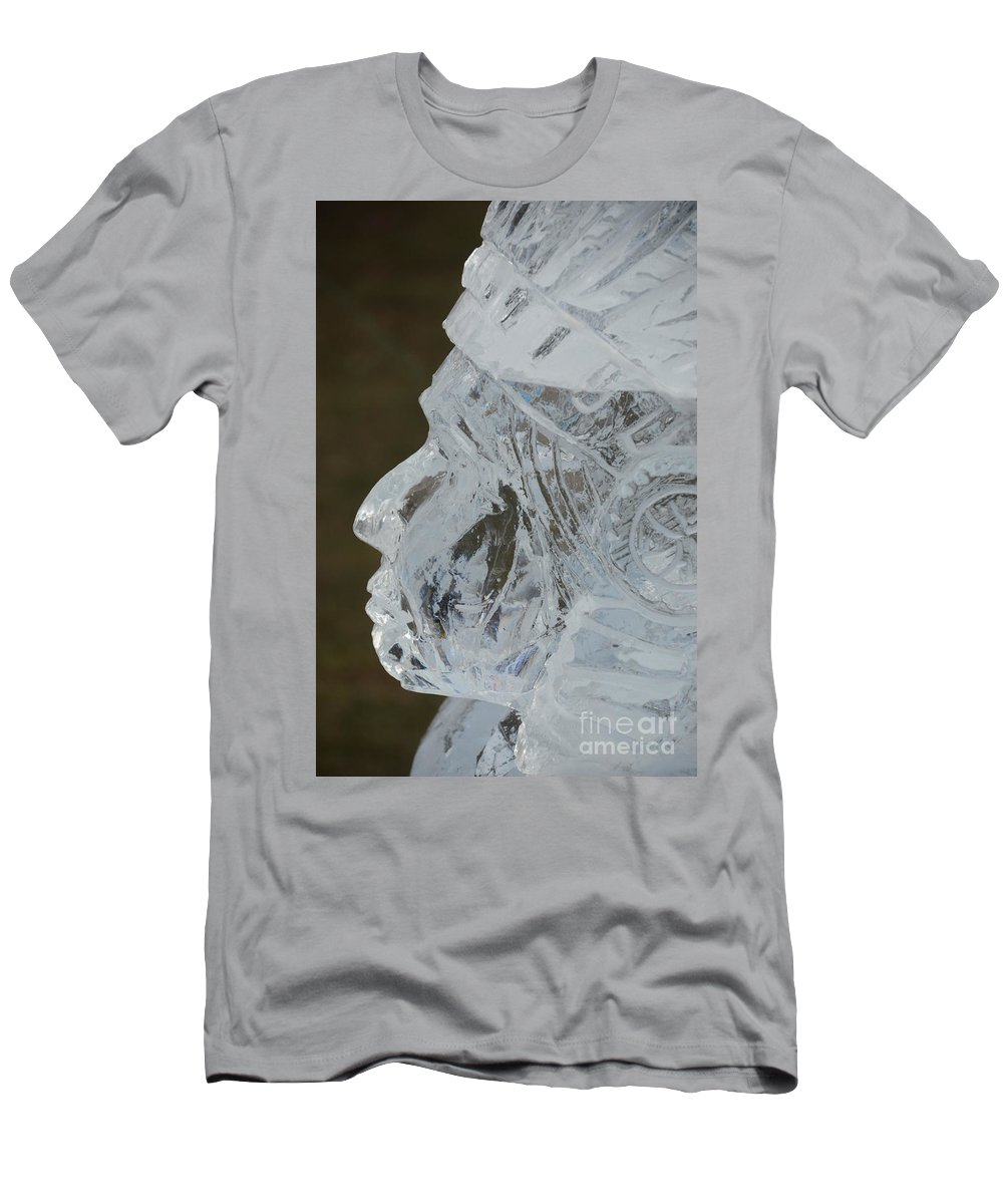 Michigan Men's T-Shirt (Athletic Fit) featuring the photograph Plymouth Ice Festival by Randy J Heath