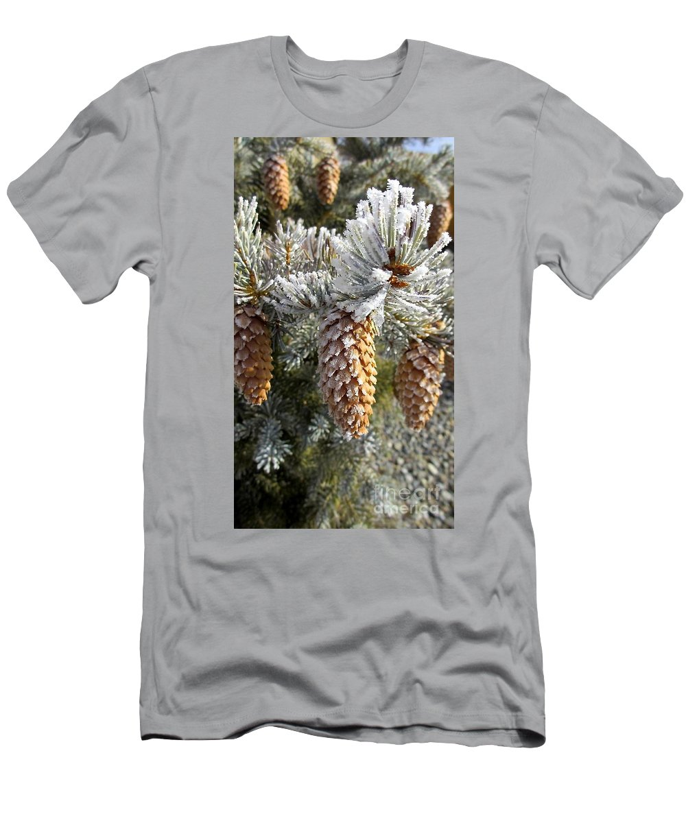 Pogonip Is A Season In The North West Usa Men's T-Shirt (Athletic Fit) featuring the photograph Pogonip by Phyllis Kaltenbach