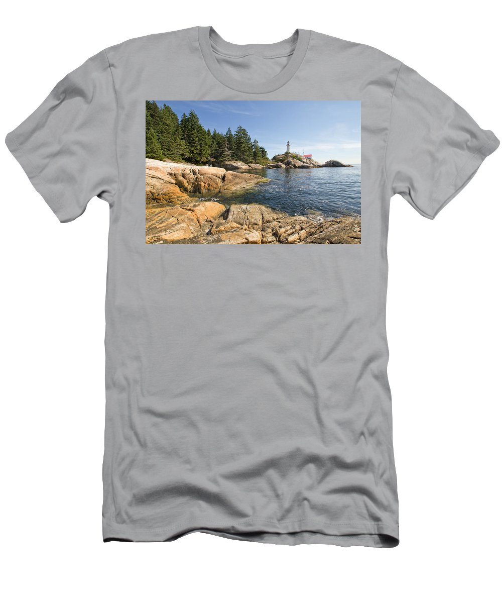Point Men's T-Shirt (Athletic Fit) featuring the photograph Point Atkinson Lighthouse In Vancouver Bc by Jit Lim