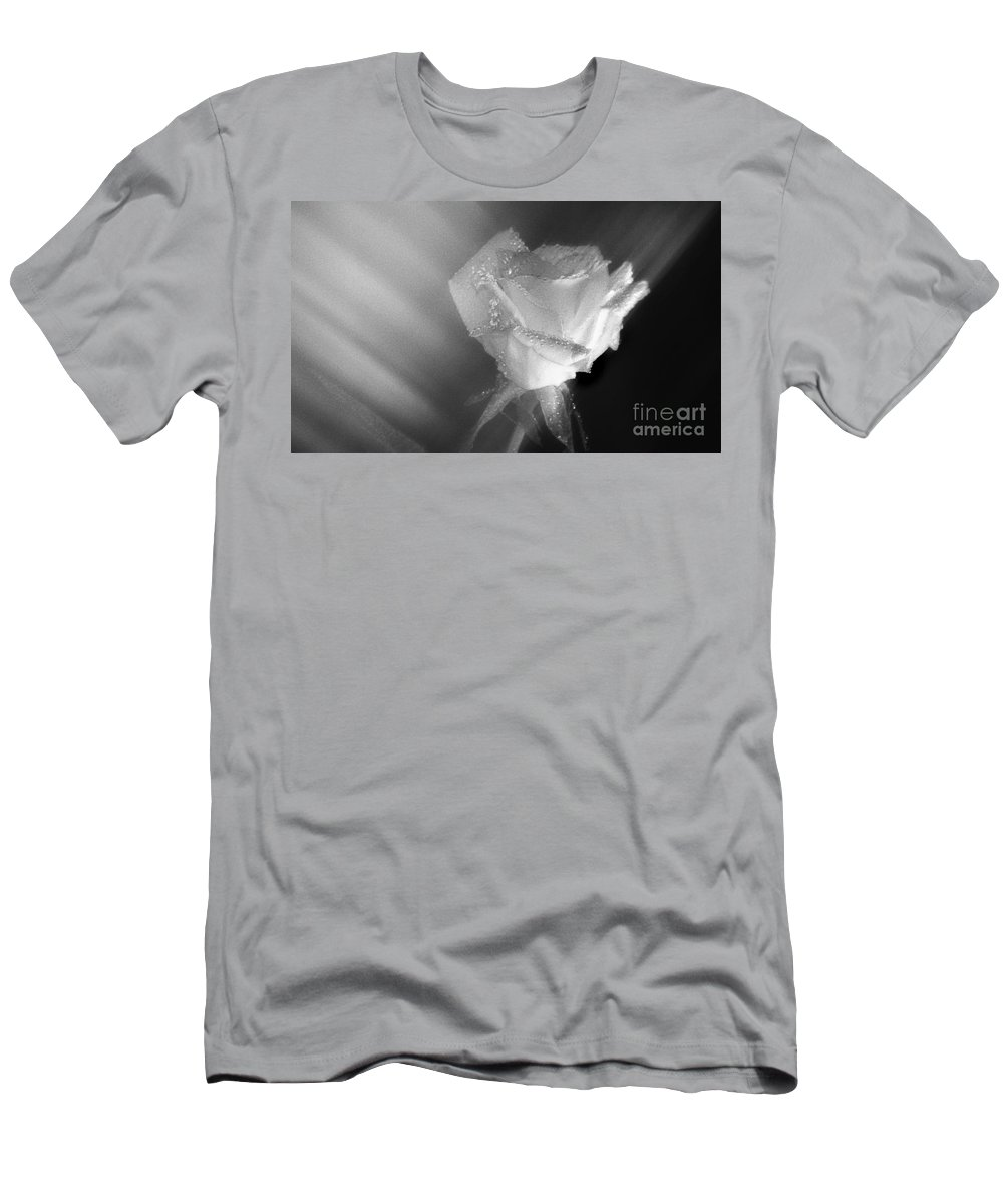 Pictures Of Flowers Men's T-Shirt (Athletic Fit) featuring the photograph Portrait Of A Rose by Skip Willits