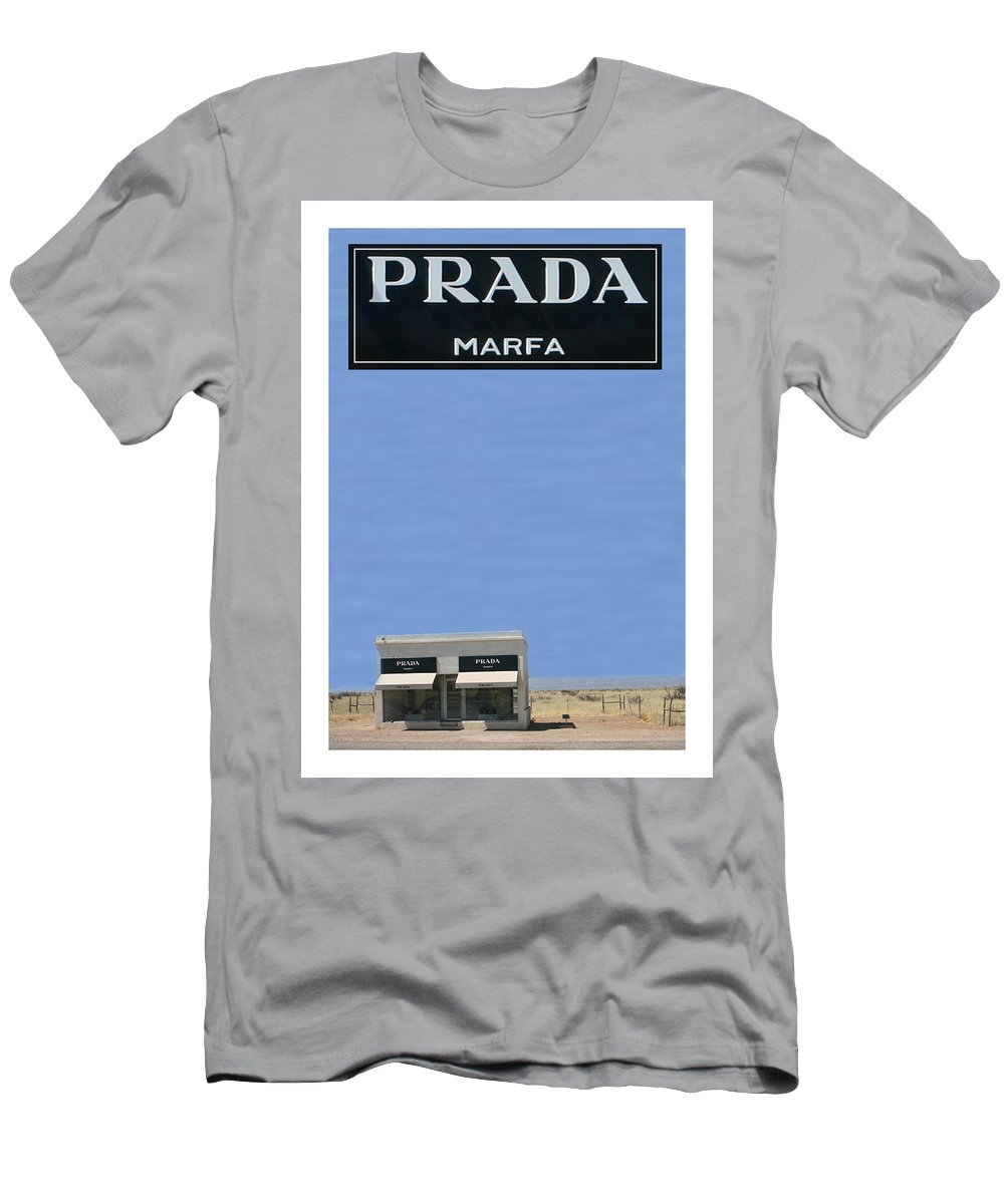 5464a7413 Sun Men's T-Shirt (Athletic Fit) featuring the photograph Prada Marfa Texas  by