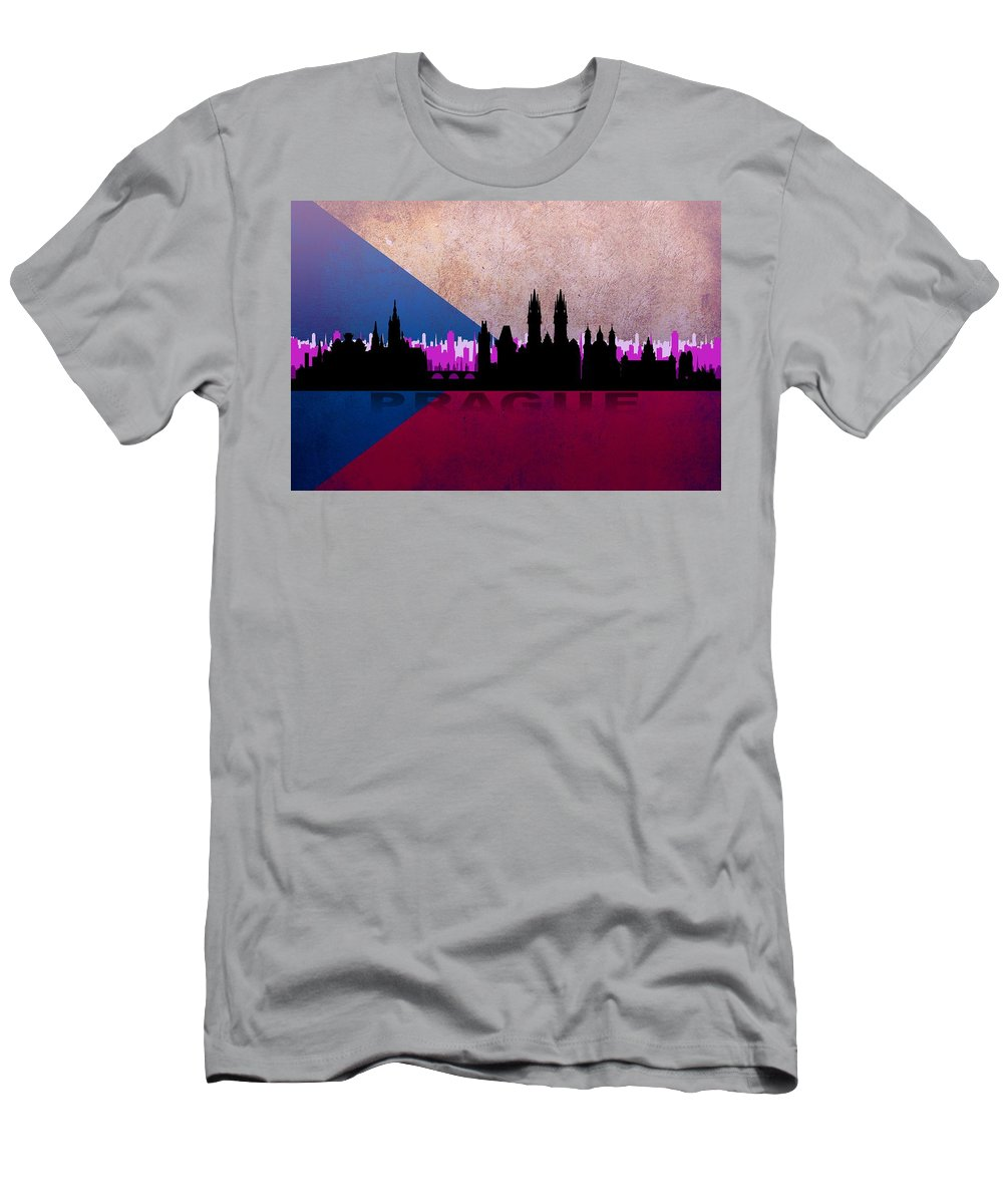 Architecture Men's T-Shirt (Athletic Fit) featuring the digital art Prague City by Don Kuing
