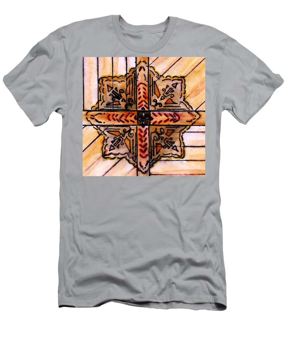 Church Men's T-Shirt (Athletic Fit) featuring the painting Prairie Star by Elizabeth Briggs