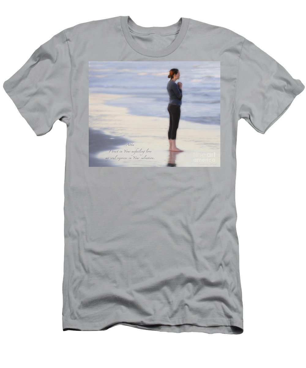 Abba Men's T-Shirt (Athletic Fit) featuring the painting Prayer To Abba by Constance Woods