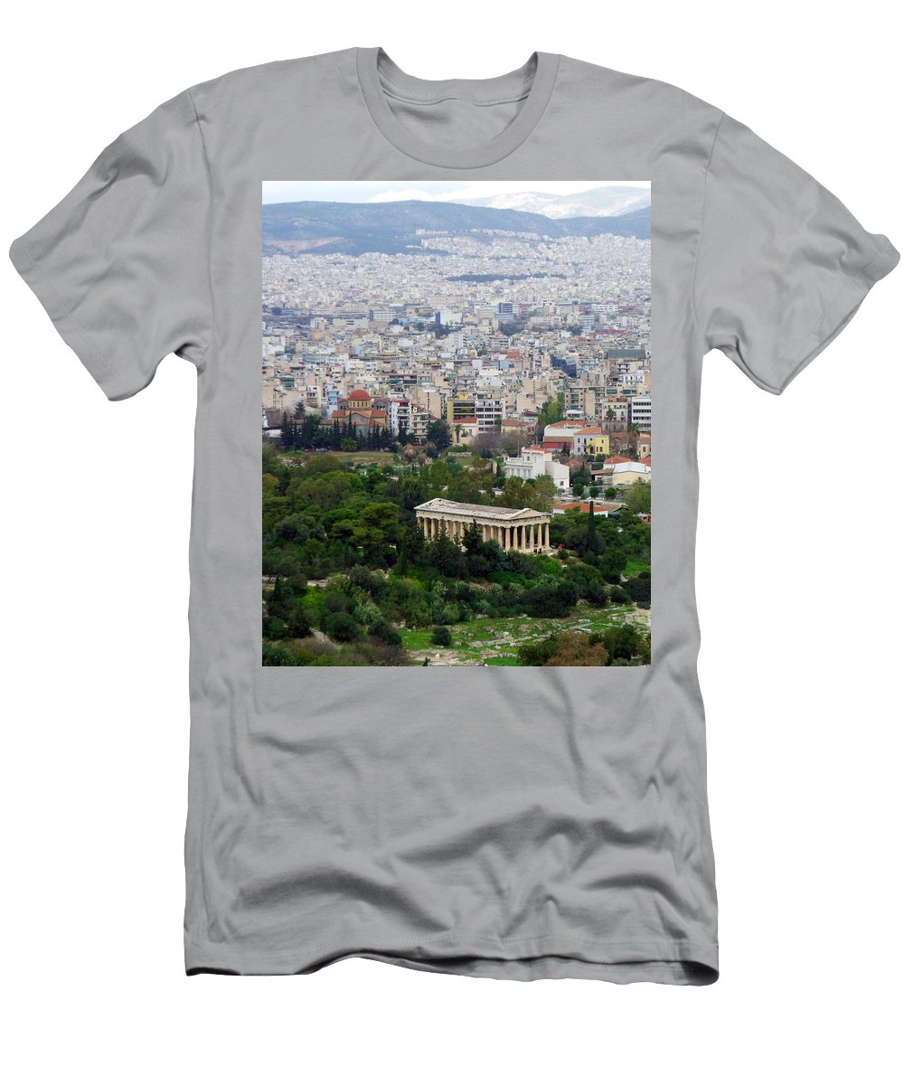Greek Men's T-Shirt (Athletic Fit) featuring the photograph Present Day Ruins by Gary Mosman