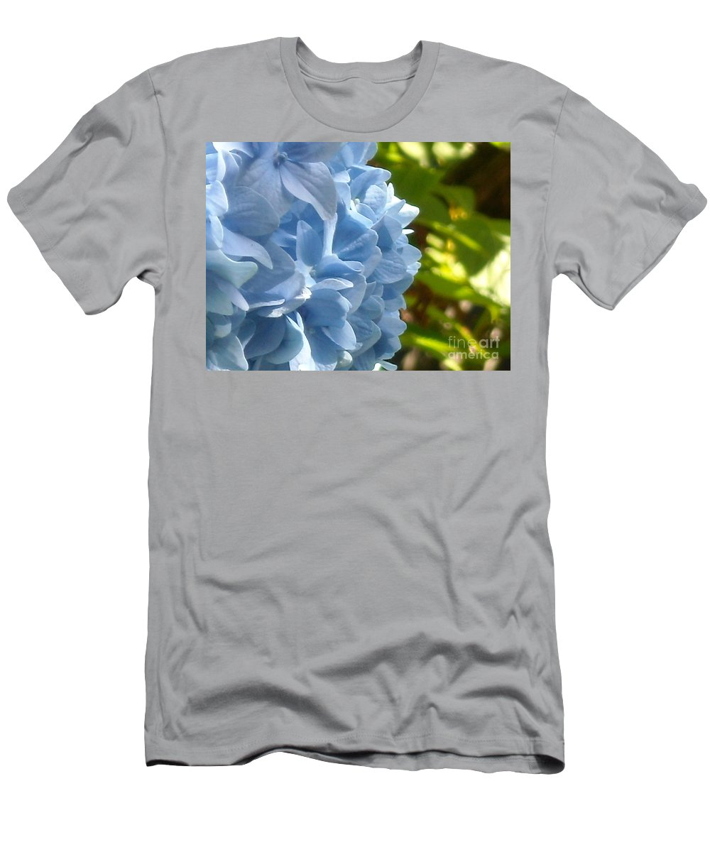 Flower Men's T-Shirt (Athletic Fit) featuring the photograph Pretty Blue Flower by Line Gagne