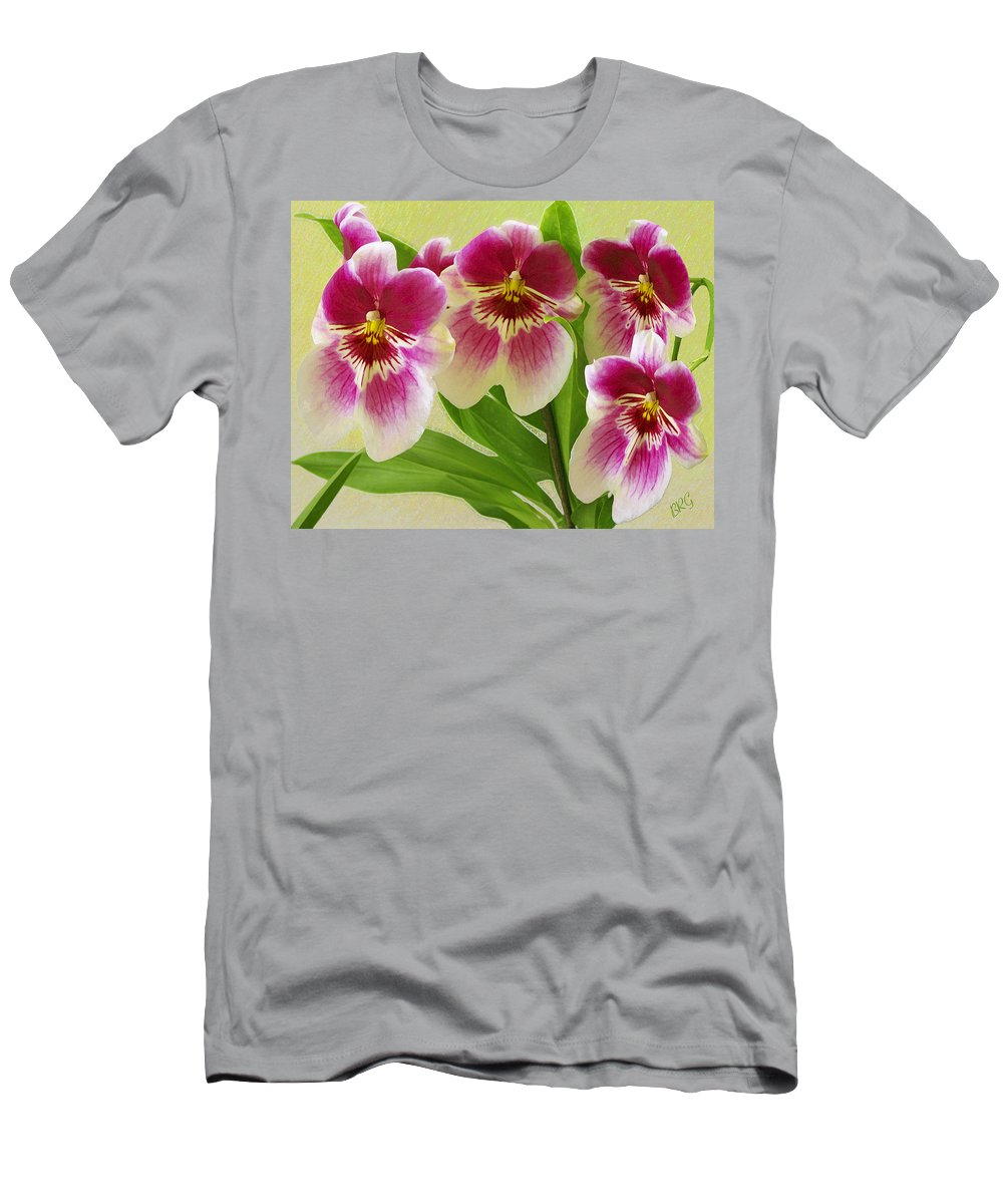 Exotic Flower Men's T-Shirt (Athletic Fit) featuring the photograph Pretty Faces - Orchid by Ben and Raisa Gertsberg