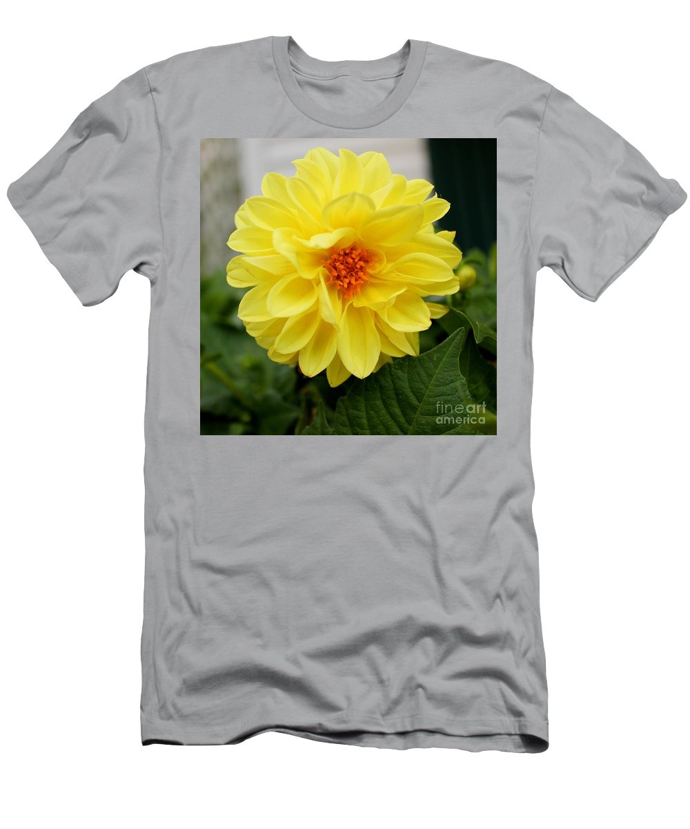 Yellow Men's T-Shirt (Athletic Fit) featuring the photograph Pretty In Yellow by Nikki Vig