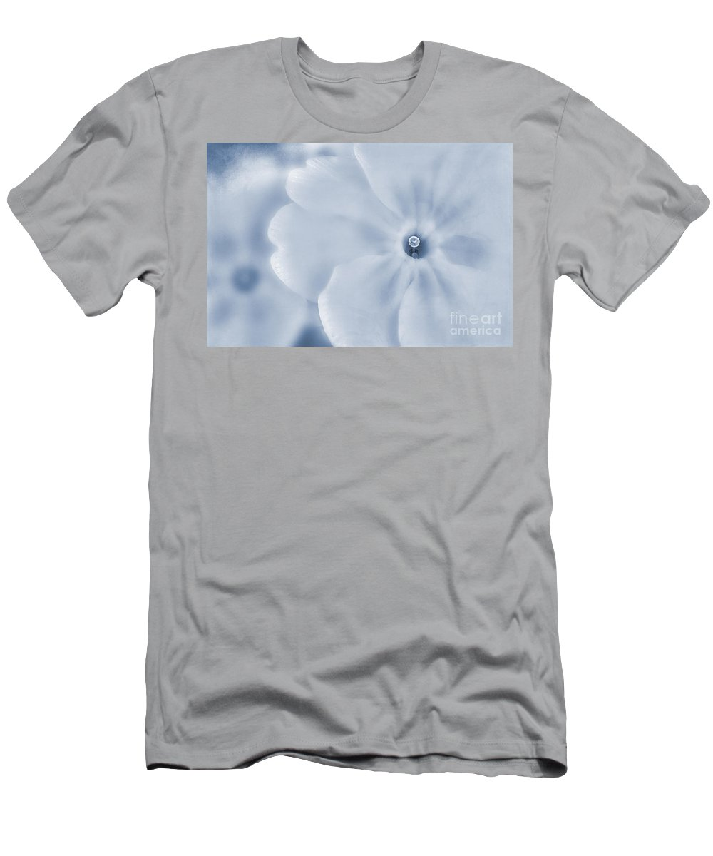 Primula Vulgaris Men's T-Shirt (Athletic Fit) featuring the photograph Primrose Cyanotype by John Edwards