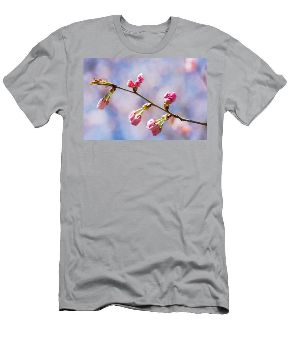 Sakura Men's T-Shirt (Athletic Fit) featuring the photograph Promise by Alexander Senin