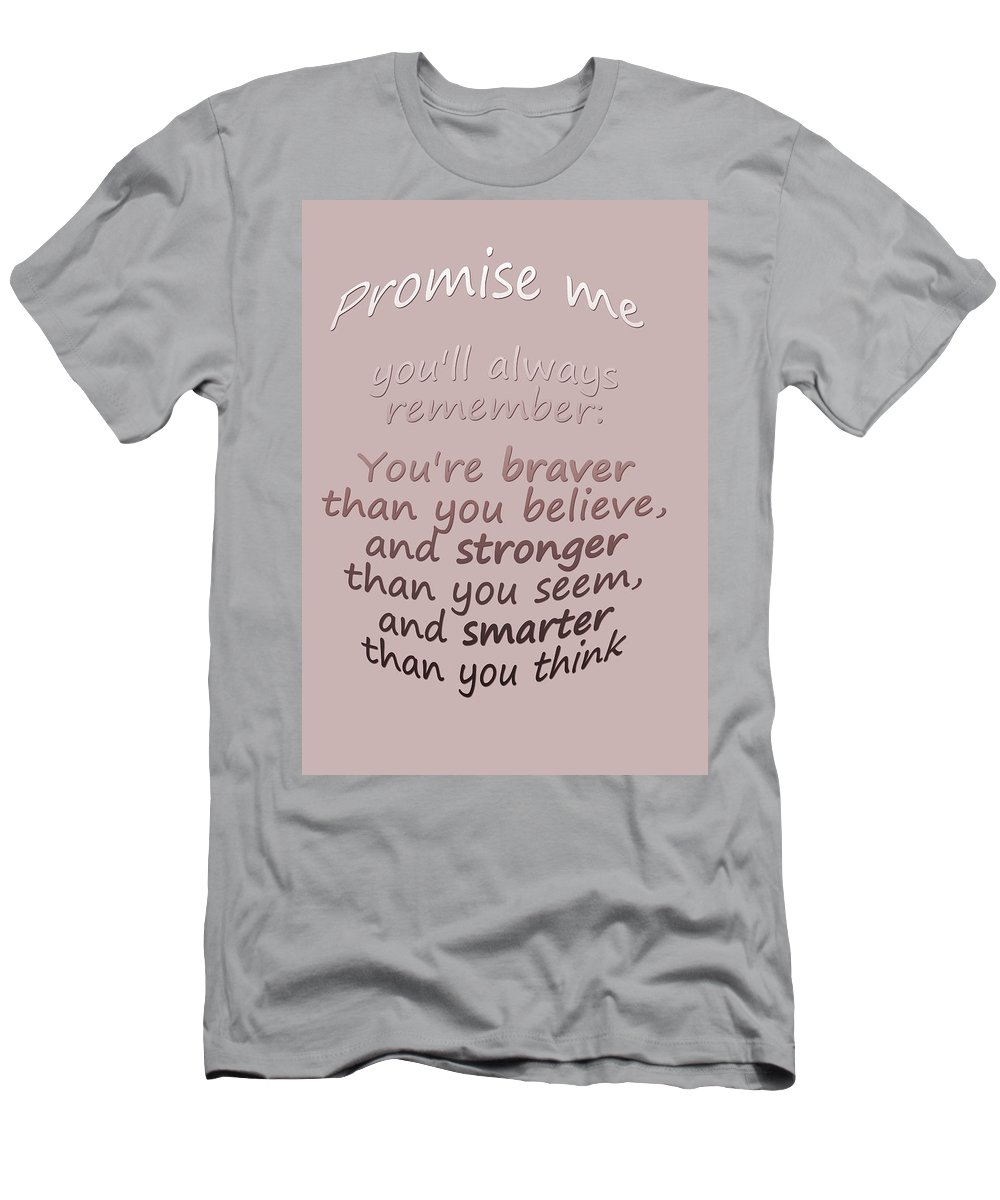 Winnie The Pooh Men's T-Shirt (Athletic Fit) featuring the digital art Promise Me - Winnie The Pooh by Georgia Fowler
