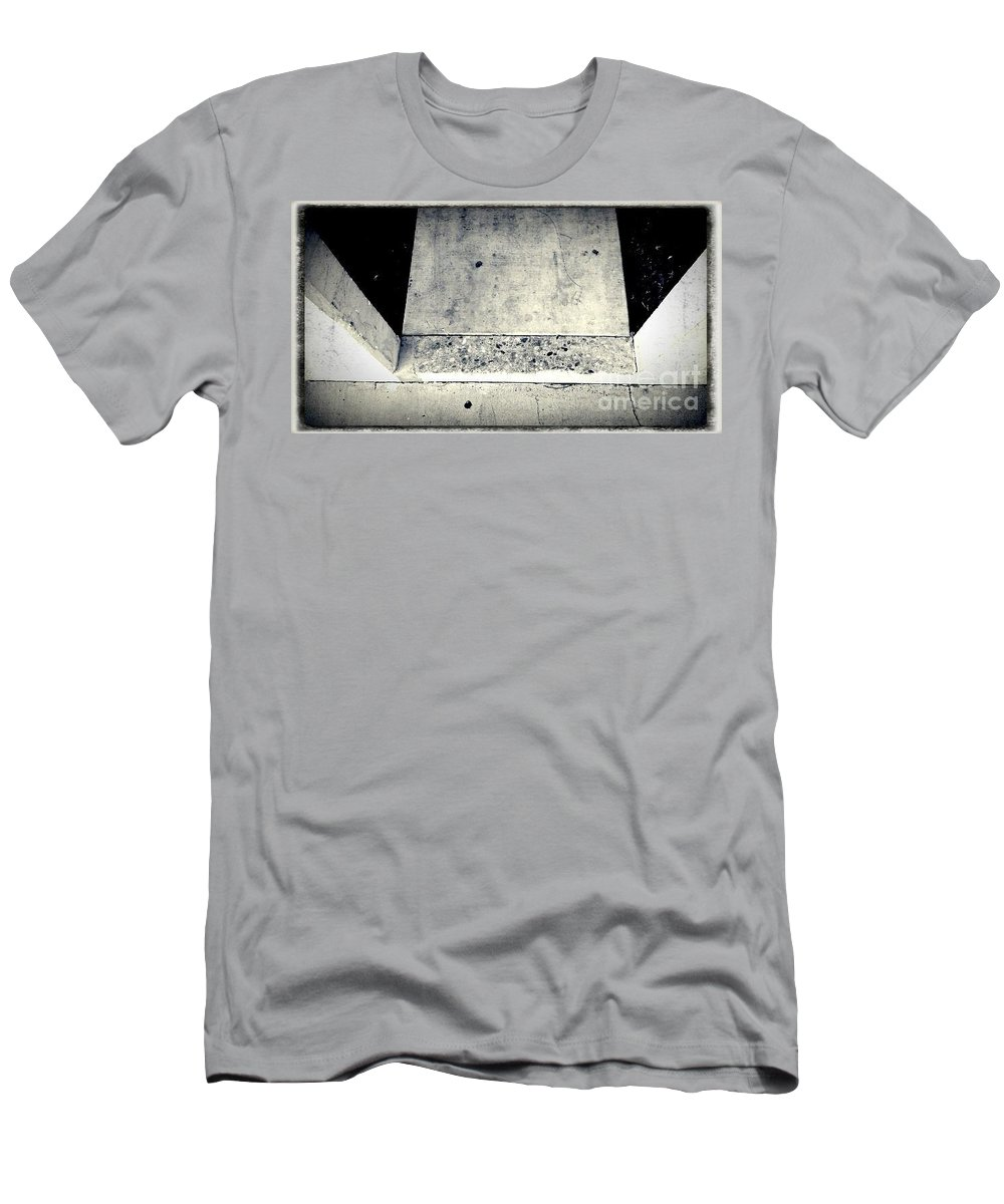 Street Snapshot Men's T-Shirt (Athletic Fit) featuring the photograph Prooflessness by Fei A