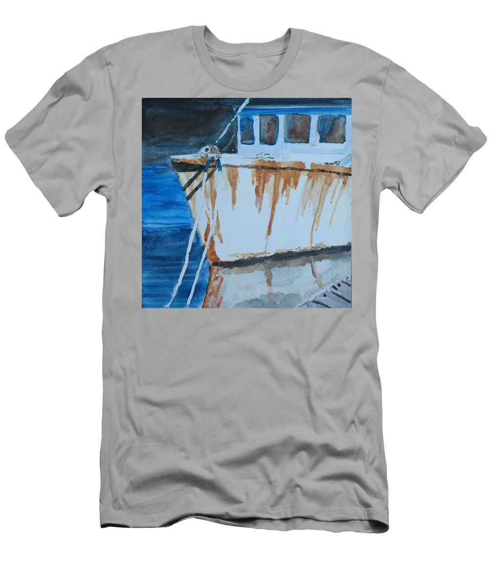 Boat Men's T-Shirt (Athletic Fit) featuring the painting Prow Reflected by Jenny Armitage