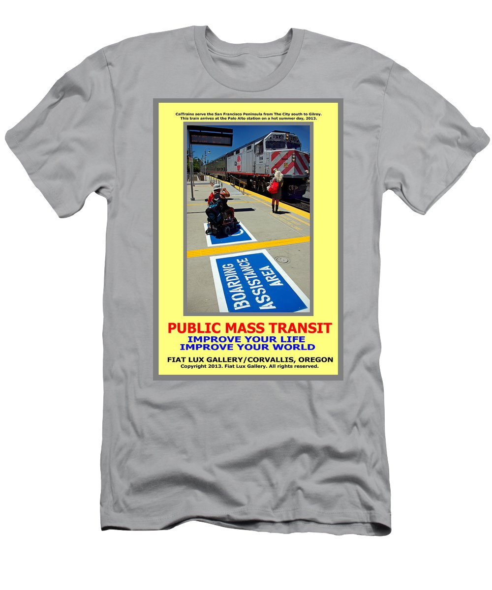 Public Mass Transit Men's T-Shirt (Athletic Fit) featuring the photograph Public Mass Transit by Michael Moore