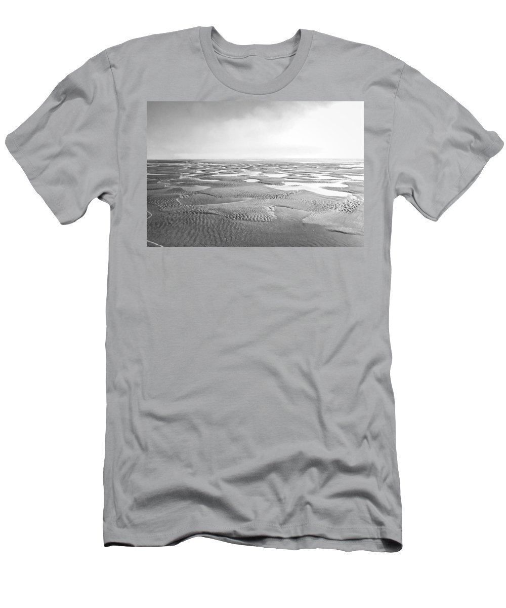Ocean Men's T-Shirt (Athletic Fit) featuring the photograph Puddles Of Ocean Left Behind by Anna Burdette