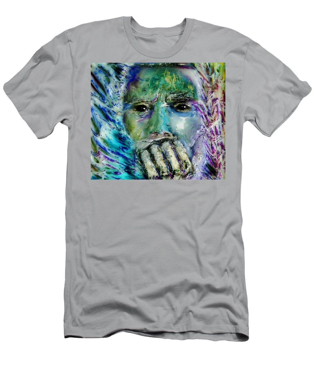 Pasolini Men's T-Shirt (Athletic Fit) featuring the painting Quadro Inverso by Bob Money