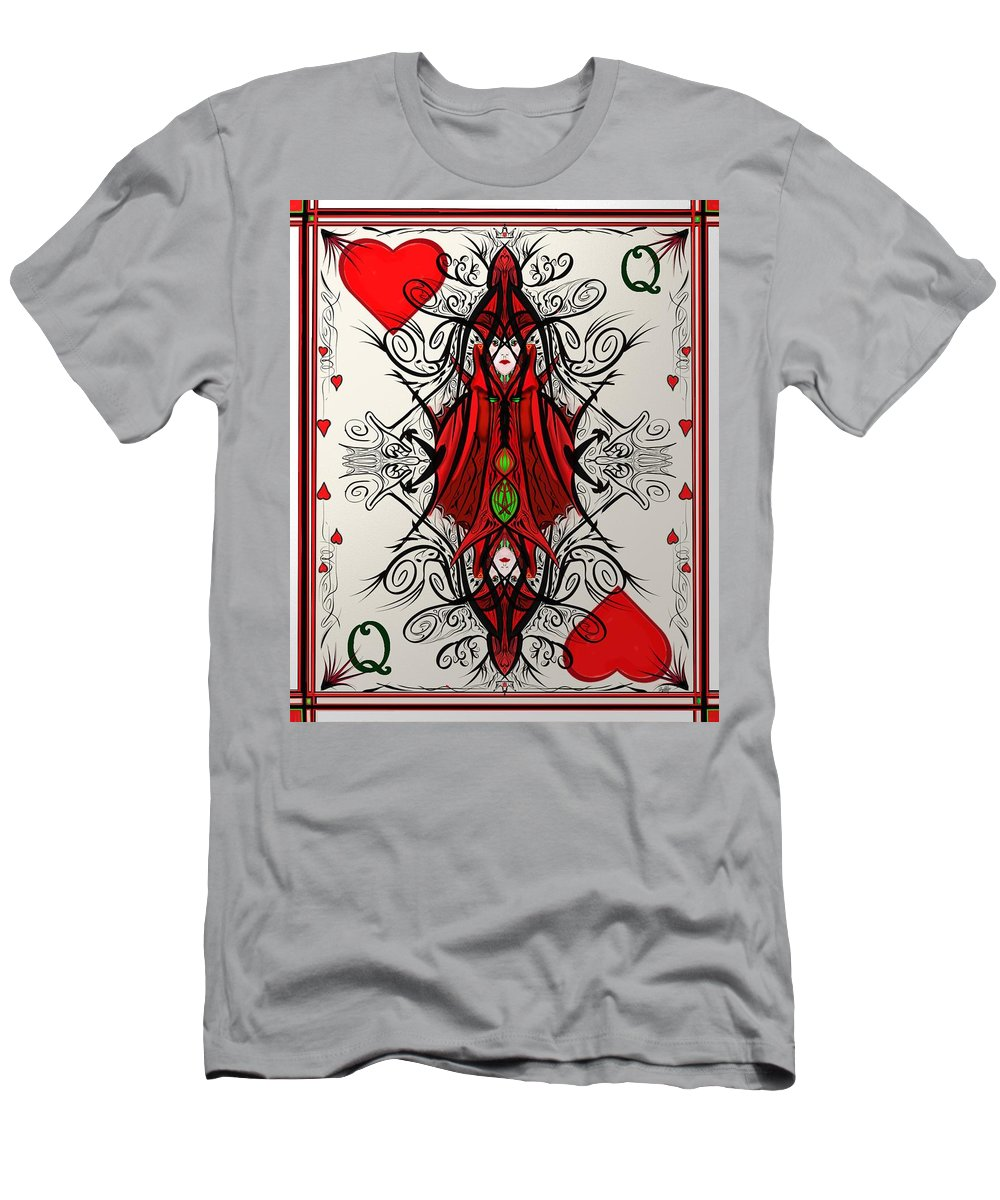 Cards Men's T-Shirt (Athletic Fit) featuring the digital art Queen Of Arts by Douglas Day Jones