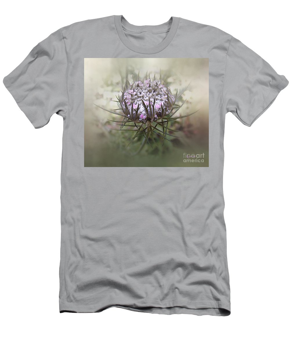 Queen Anne's Lace Men's T-Shirt (Athletic Fit) featuring the digital art Queen Of The Mist by RC DeWinter