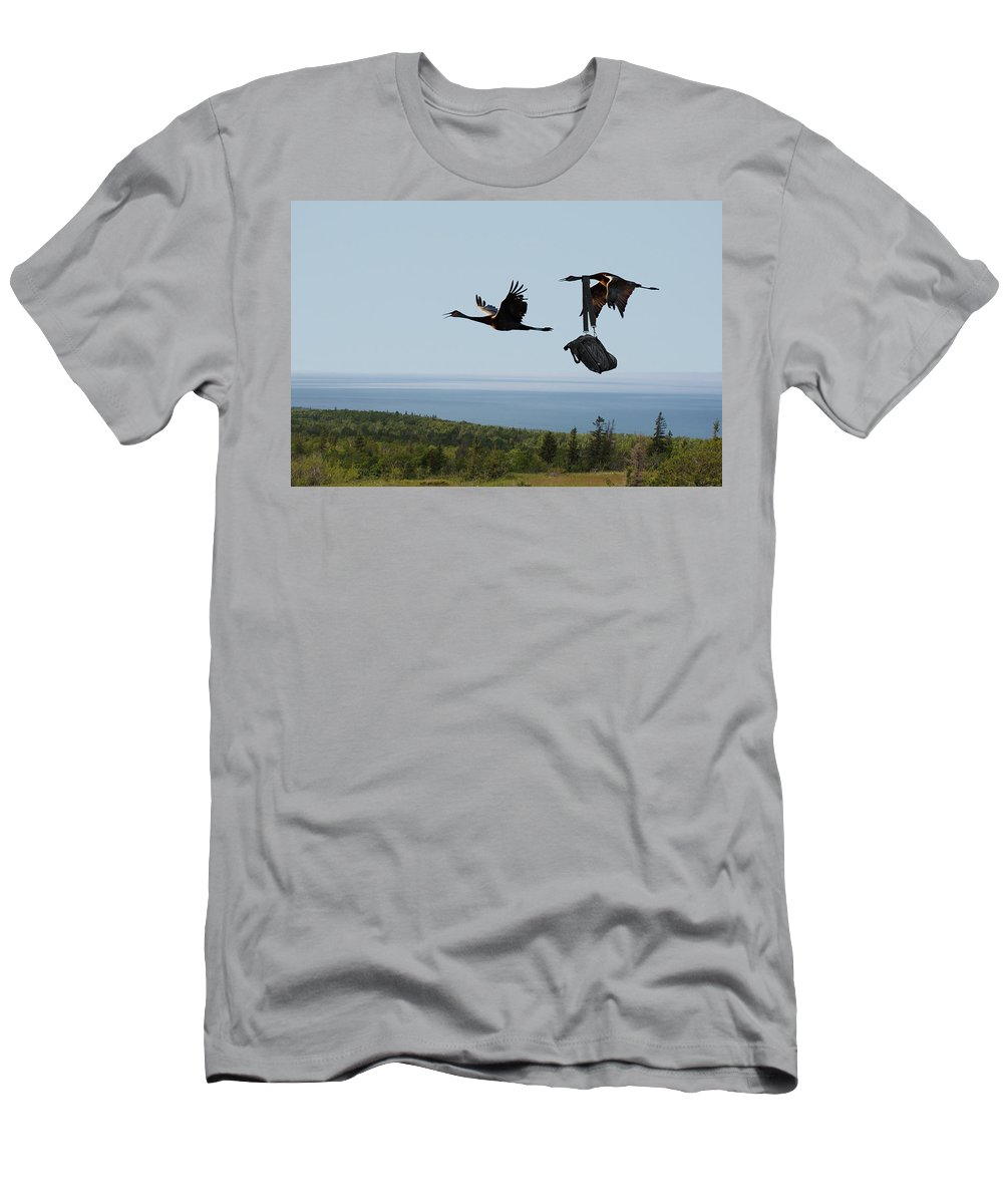 Montages Men's T-Shirt (Athletic Fit) featuring the photograph Quit Your Squawkin' by Greg Wells