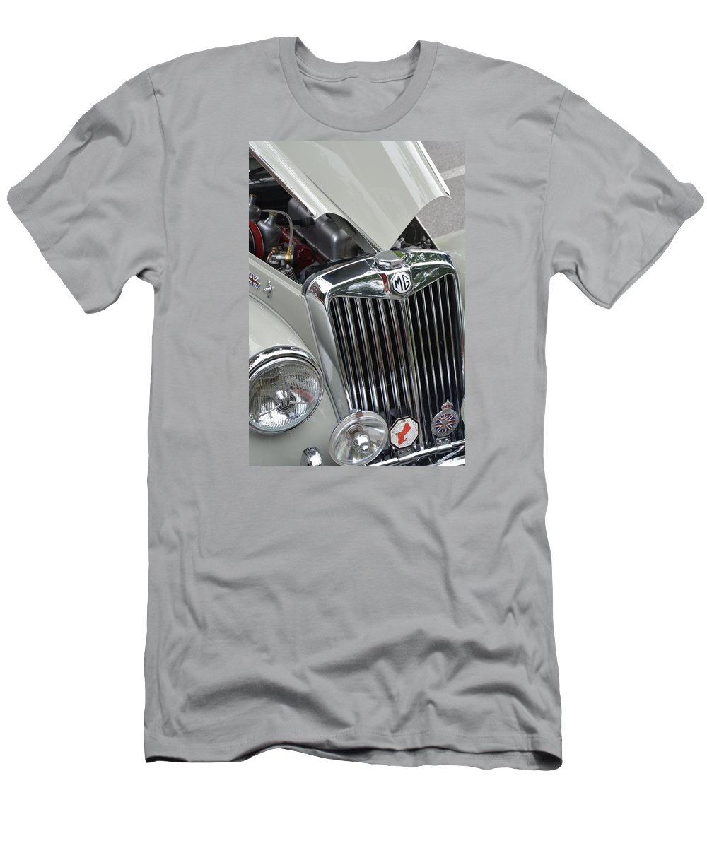 Automobiles Men's T-Shirt (Athletic Fit) featuring the photograph Real M G by John Schneider