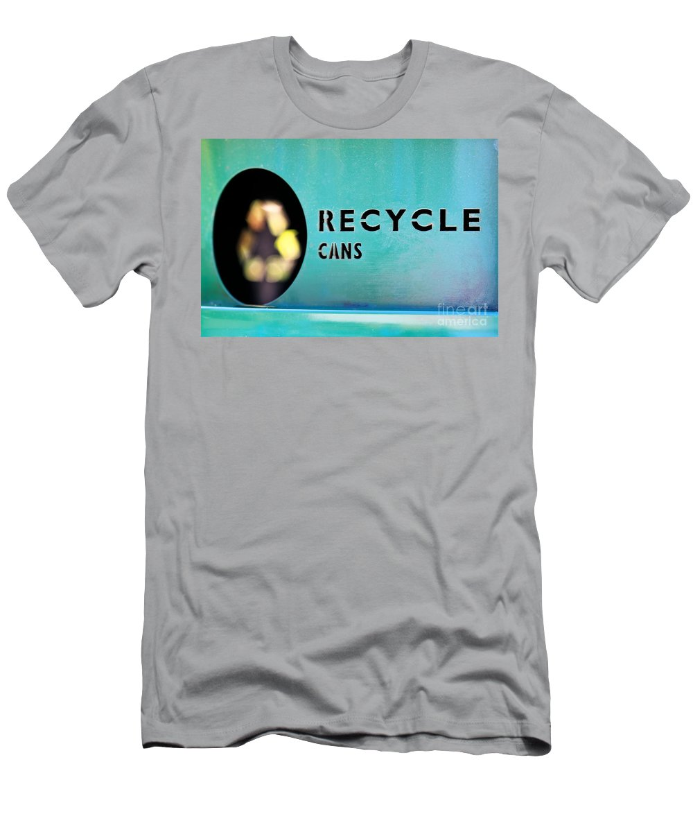 Recycle Men's T-Shirt (Athletic Fit) featuring the photograph Recycle Cans by Henrik Lehnerer