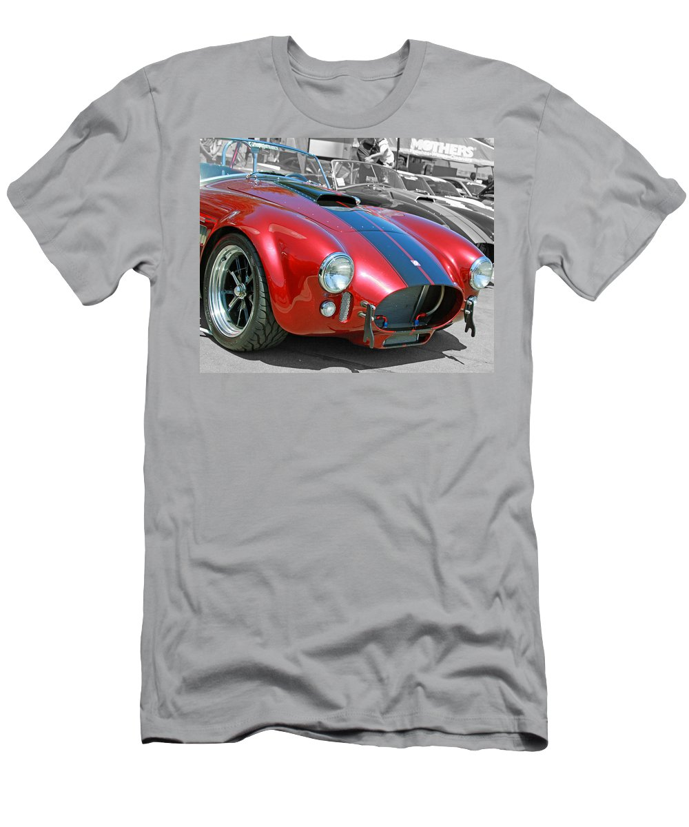 Cars Men's T-Shirt (Athletic Fit) featuring the photograph Red Cobra by Shoal Hollingsworth