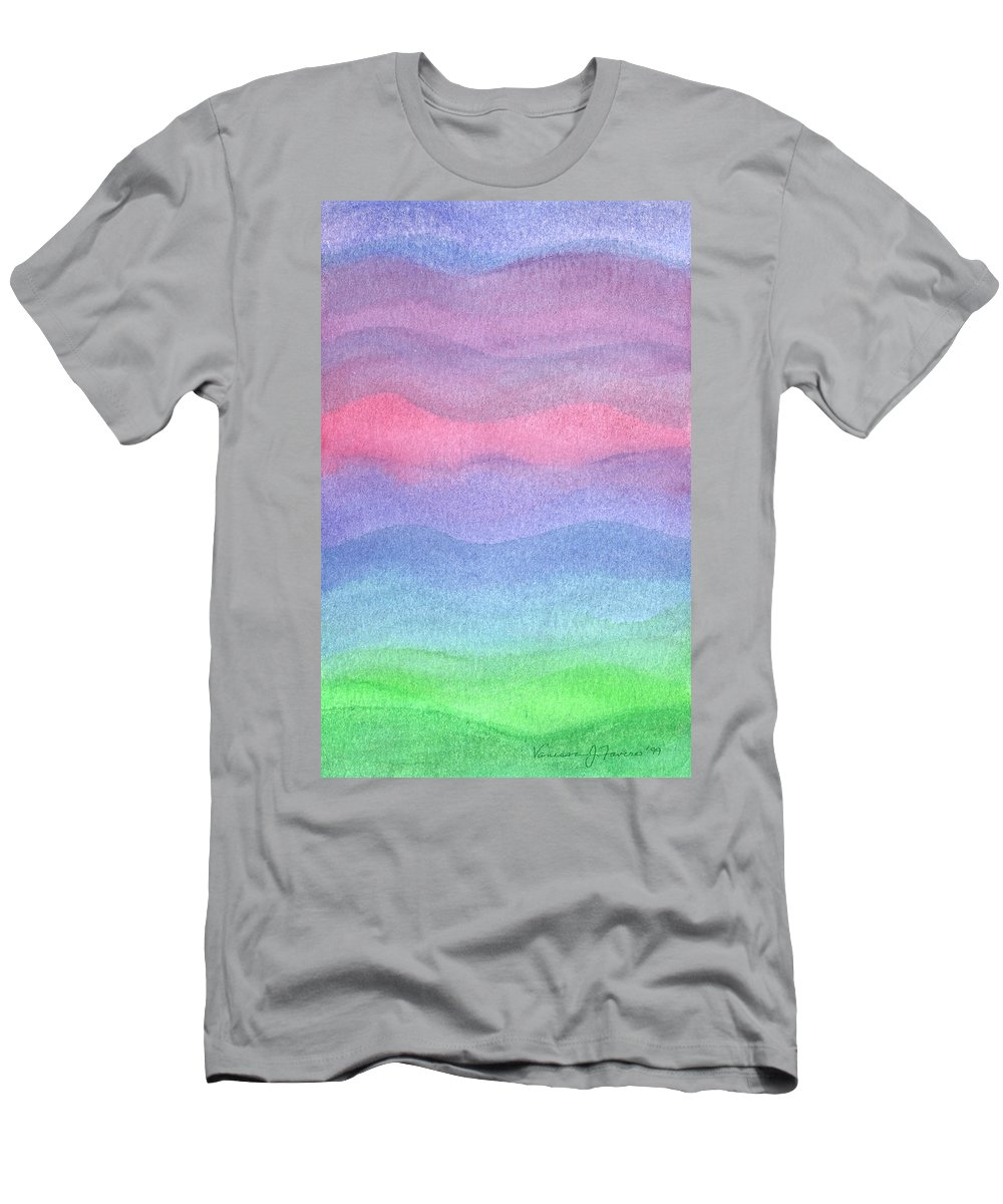 Red Men's T-Shirt (Athletic Fit) featuring the painting Red Sky At Night by Vanessa Favero