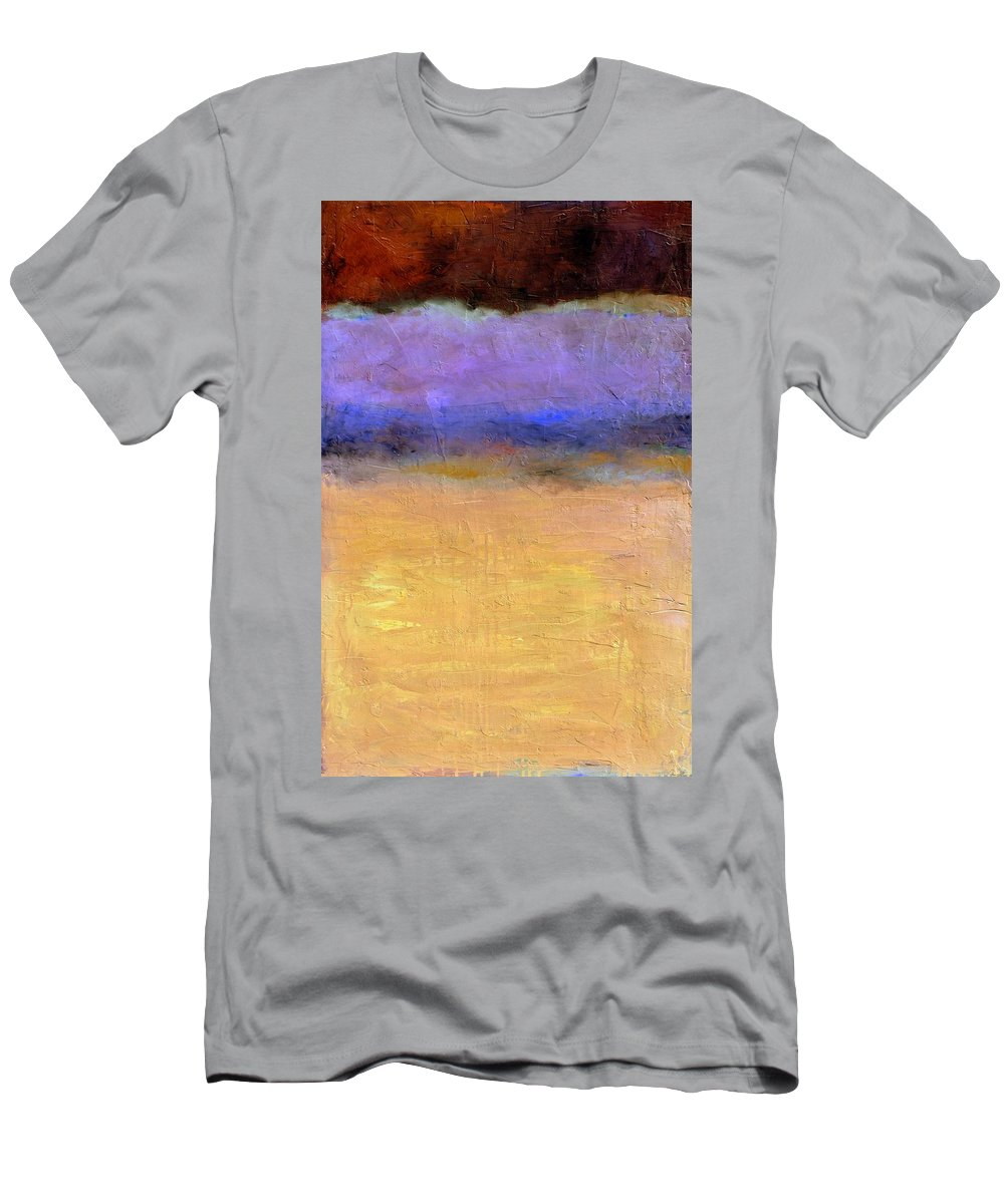 Lake Men's T-Shirt (Athletic Fit) featuring the painting Red Sky by Michelle Calkins