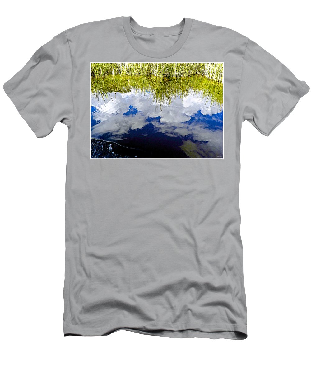 Reflection Men's T-Shirt (Athletic Fit) featuring the photograph Reflections by Barbara Zahno