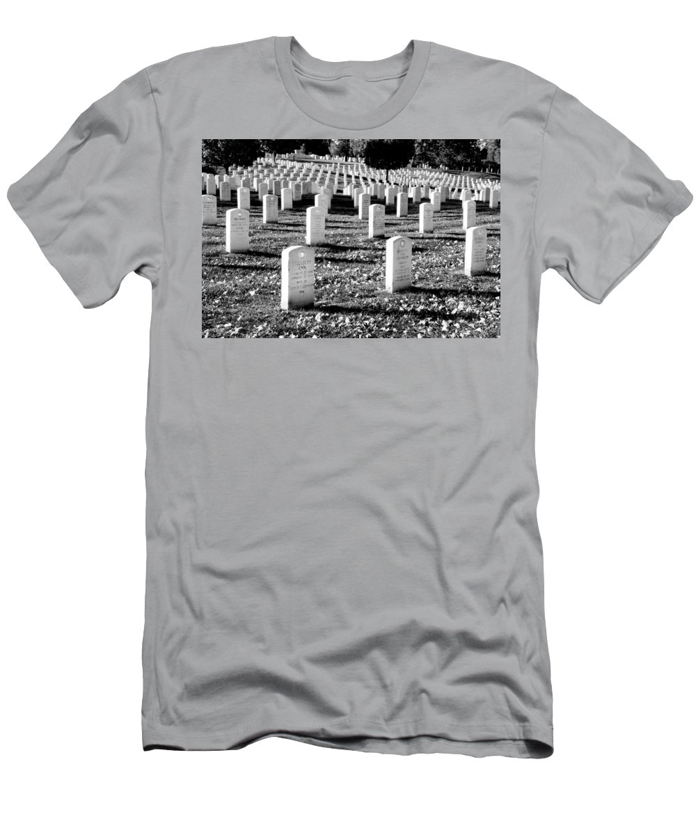Arlington Cemetery Men's T-Shirt (Athletic Fit) featuring the photograph Religion Never Dies by Greg Fortier