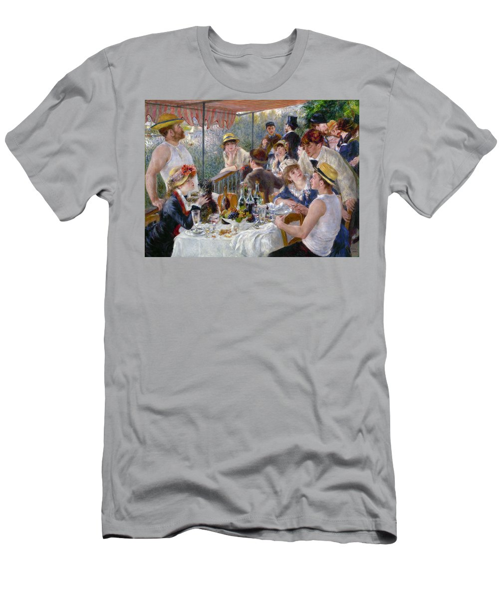 1880 Men's T-Shirt (Athletic Fit) featuring the photograph Renoir: Luncheon, 1880-81 by Granger