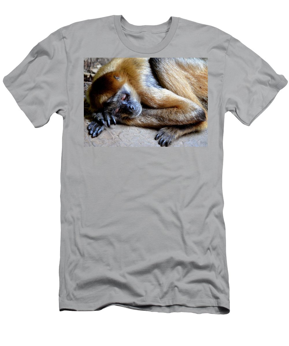 Resting Comfortably Men's T-Shirt (Athletic Fit) featuring the photograph Resting Comfortably by Maria Urso