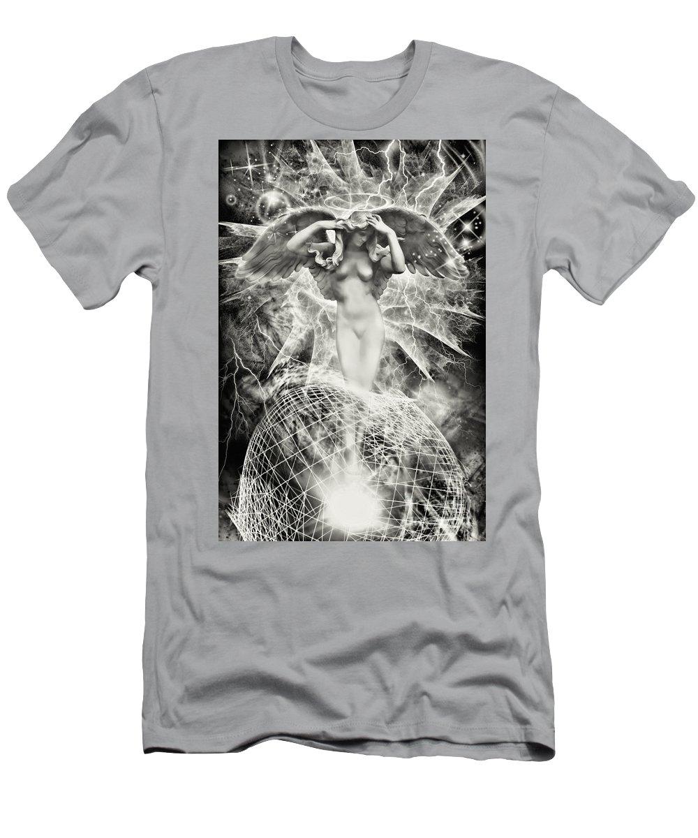 Angel Men's T-Shirt (Athletic Fit) featuring the digital art Revelation Of Angel by Olga Hamilton