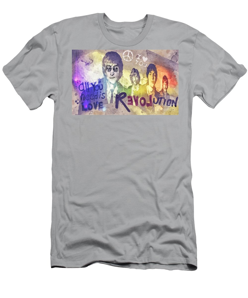 Revolution T-Shirt featuring the mixed media Revolution by Mo T