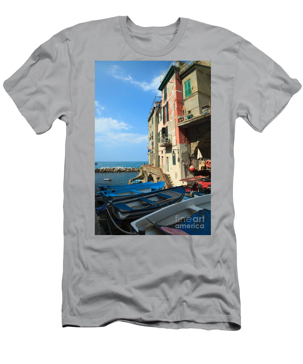 Cinque Terre Men's T-Shirt (Athletic Fit) featuring the photograph Riomaggiore - Cinque Terre by Matteo Colombo