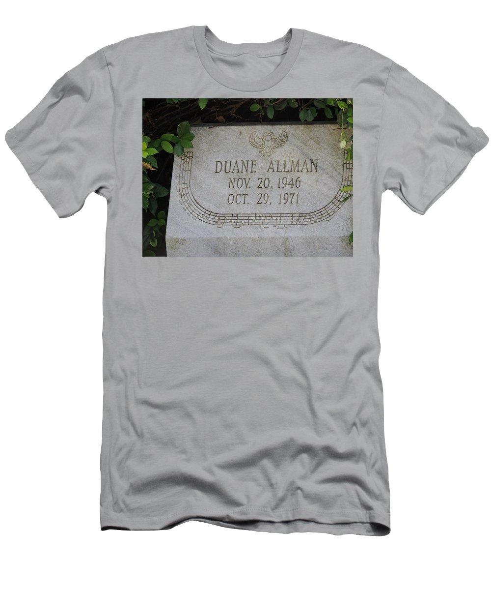a79d28e213c Allman Men s T-Shirt (Athletic Fit) featuring the photograph Rip Duane  Allman by