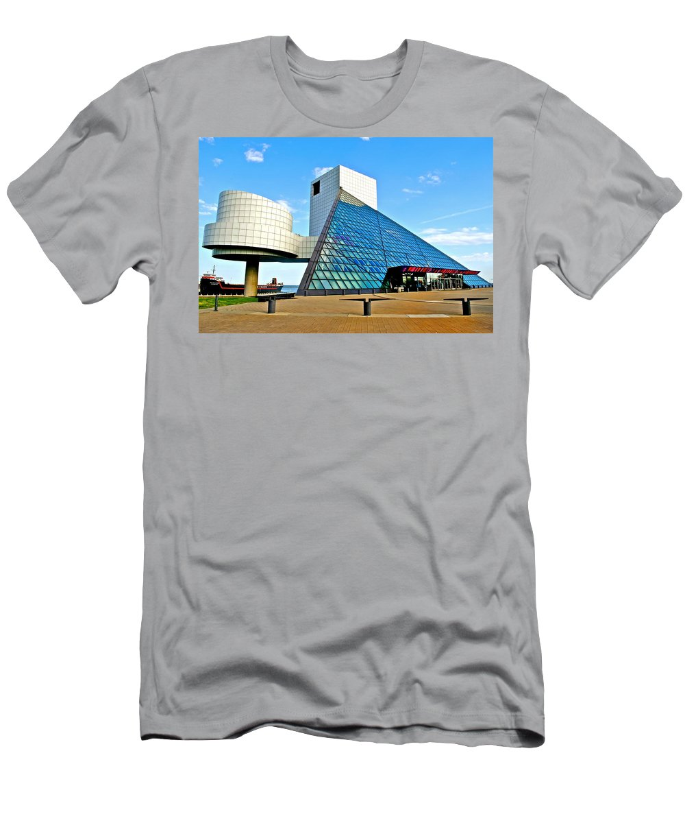 Rock T-Shirt featuring the photograph Rock n Roll Hall of Fame by Frozen in Time Fine Art Photography