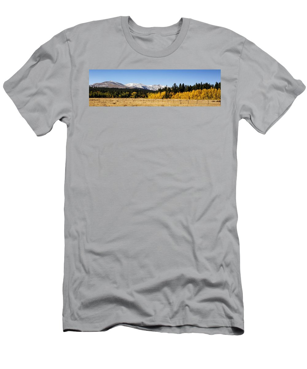 Colorful Men's T-Shirt (Athletic Fit) featuring the photograph Rocky Mountain Autumn by Marilyn Hunt