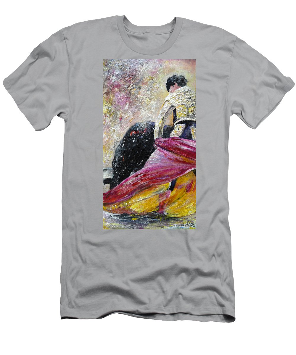 Animals Men's T-Shirt (Athletic Fit) featuring the painting Romance by Miki De Goodaboom