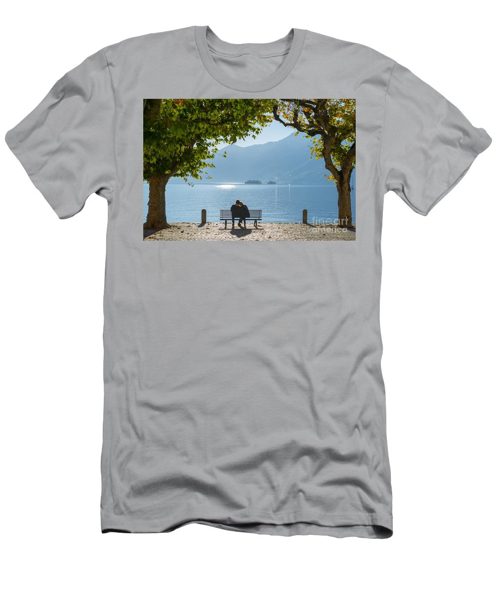 Bench Men's T-Shirt (Athletic Fit) featuring the photograph Romantic by Mats Silvan
