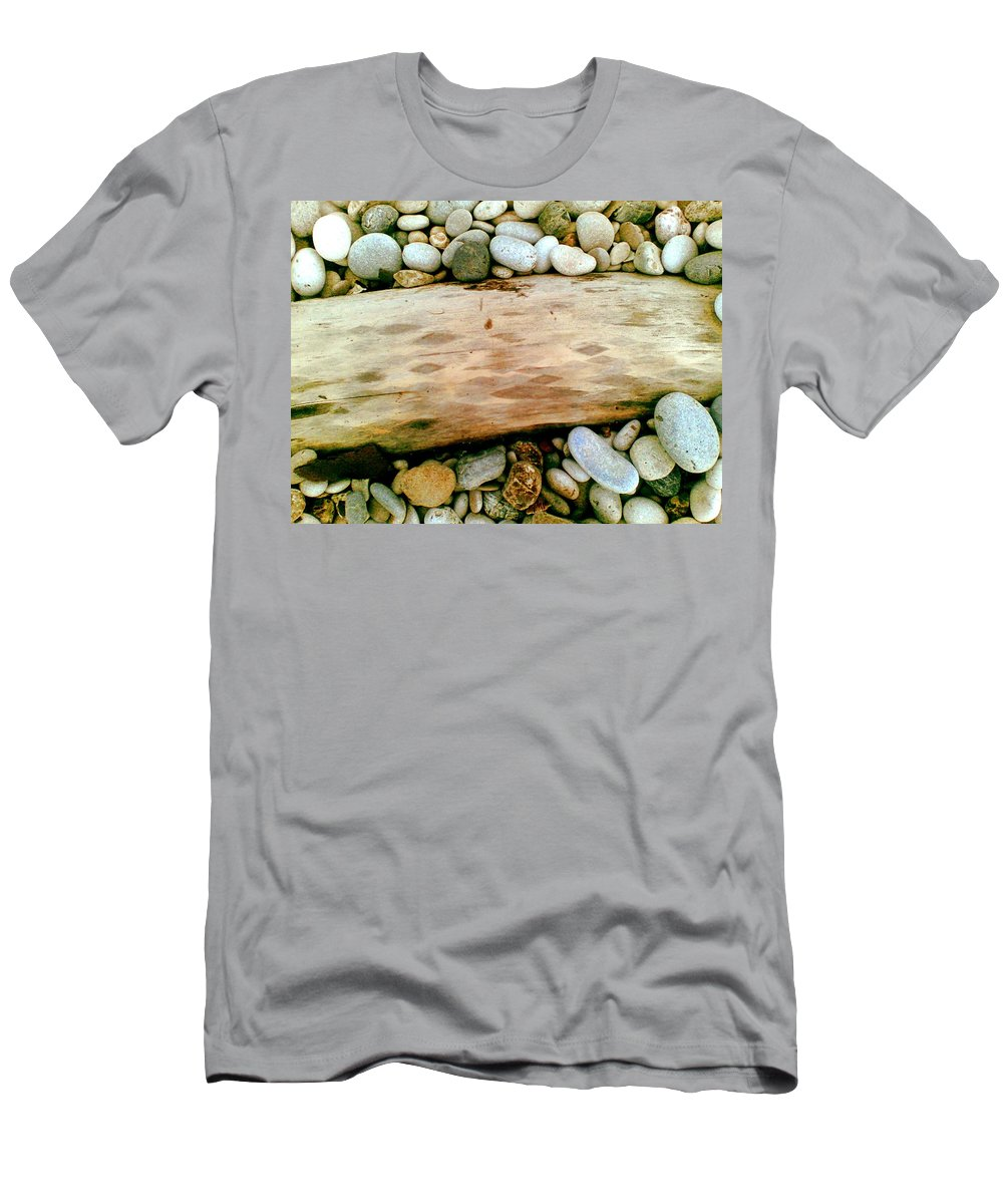 Wood Men's T-Shirt (Athletic Fit) featuring the photograph Rombos by Marcello Cicchini