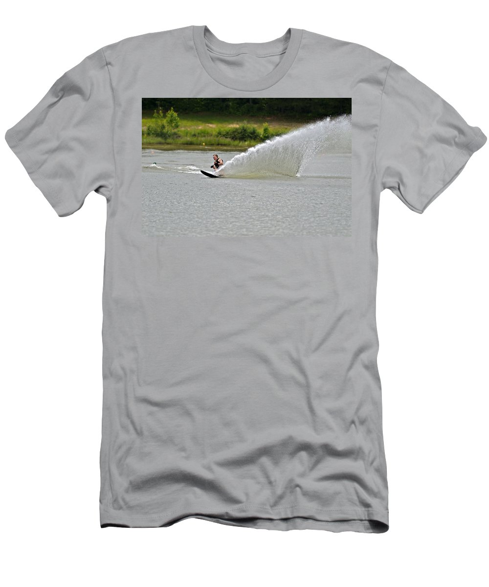 Teen Men's T-Shirt (Athletic Fit) featuring the photograph Rooster Tail by Susan Leggett
